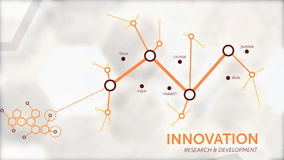 Business innovation and research video animation stock video footage