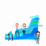 Business. Innovation sales growth revenue business Royalty Free Stock Photography