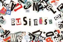 Business inscription Stock Photo
