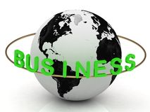 Business inscription in green letters Royalty Free Stock Photo