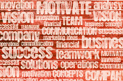 Business inspiration word cloud Stock Photography