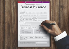 Business Insurance Benefit Document Concept Stock Photos
