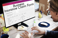 Business Insurance Claim Form Document Concept Stock Photography