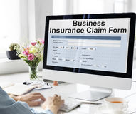 Business Insurance Claim Form Document Concept Royalty Free Stock Photo