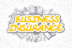 Business Insurance - Doodle Yellow Word. Business Concept. Royalty Free Stock Photos