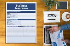 Business Insurance Management work Business Royalty Free Stock Photography