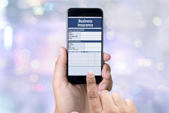 Business Insurance Management work Business Royalty Free Stock Images
