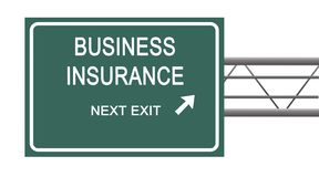 Business insurance. Road sign to business insurance Royalty Free Stock Photos