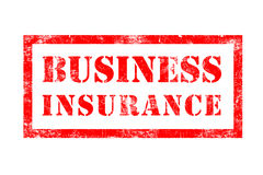 Business Insurance rubber stamp. In red ink with white background Stock Photos