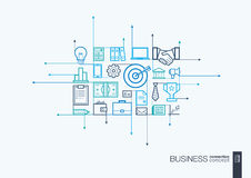 Business integrated thin line symbols. Stock Image