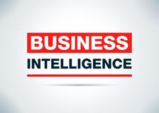Business Intelligence Abstract Vlak Ontwerp Als achtergrond Illustrati stock illustratie