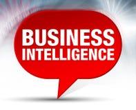Business Intelligence bąbla Czerwony tło royalty ilustracja