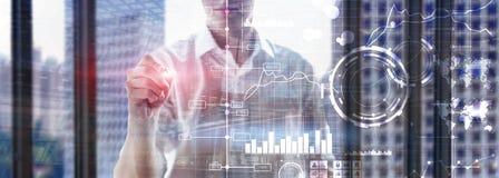 Business intelligence BI Key performance indicator KPI Analysis dashboard transparent blurred background stock photography