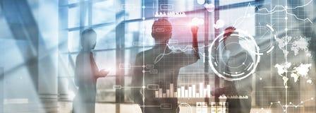 Business intelligence BI Key performance indicator KPI Analysis dashboard transparent blurred background. Business intelligence BI Key performance indicator KPI royalty free stock photography