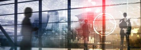 Business Intelligence BI Kluczowego występu wskaźnika KPI analizy deski rozdzielczej przejrzysty zamazany tło royalty ilustracja