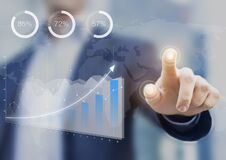 Free Business Intelligence Dashboard With Key Performance Indicators And Financial Consultant Royalty Free Stock Images - 219609219