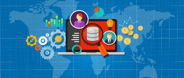 Business intelligence database analysis Royalty Free Stock Photos