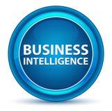 Business Intelligence gałki ocznej Round Błękitny guzik ilustracja wektor