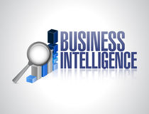 Business intelligence graph sign illustration Stock Photos
