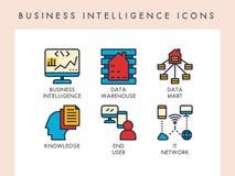 Business Intelligence ikony Fotografia Stock