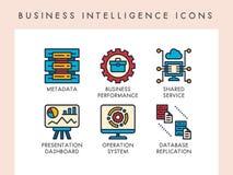 Business Intelligence ikony Zdjęcie Stock