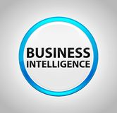 Business Intelligence Round Blue Push Button vector illustration