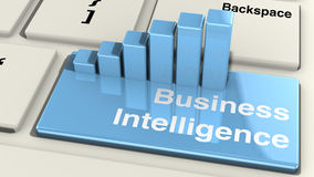 Business intelligence keyboard Royalty Free Stock Photography