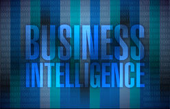 Business intelligence message illustration Stock Image