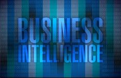 Business intelligence message illustration Stock Image