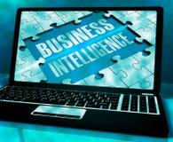Business Intelligence Na laptopie Pokazuje Zbieracką informację 3 ilustracji