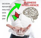 Business Intelligence pojęcie levitating nad ręka Fotografia Stock