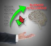 Business Intelligence pojęcie levitating nad ręka Zdjęcia Stock