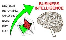 Business Intelligence pojęcie na białym tle Fotografia Stock