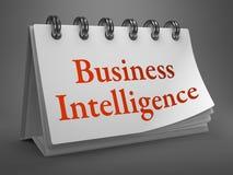 Business Intelligence pojęcie na Desktop kalendarzu. Fotografia Royalty Free