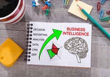 Business Intelligence pojęcie na notepad Obrazy Royalty Free