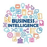 ` business intelligence ` pojęcie z istotnymi ikonami Obrazy Stock