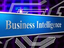 Business Intelligence Pokazuje mózg ciętość I przenikliwość Zdjęcia Stock