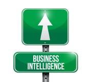 Business intelligence road sign illustration. Design over white Stock Photo