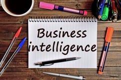 Business Intelligence słowa Obrazy Stock