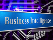 Business Intelligence Shows Brains Sharpness And Acumen Stock Photos