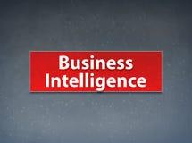 Business Intelligence sztandaru abstrakta Czerwony tło ilustracji