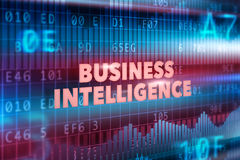 Business intelligence technology concept Stock Photos