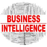Business Intelligence word cloud. Creative illustration of idea word lettering typography . 3D rendering Stock Photography