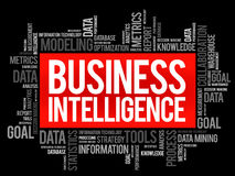 Business intelligence word cloud Royalty Free Stock Photography