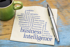 Business intelligence word cloud Stock Photo