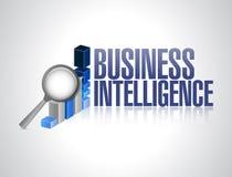 Business Intelligence wykresu znaka ilustracja Zdjęcia Stock