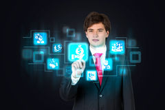 Business interface Royalty Free Stock Image