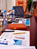 Business interior with laptop in office. Stock Images