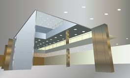 Business interior vector stock illustration