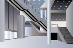 Business interior vector Royalty Free Stock Photography